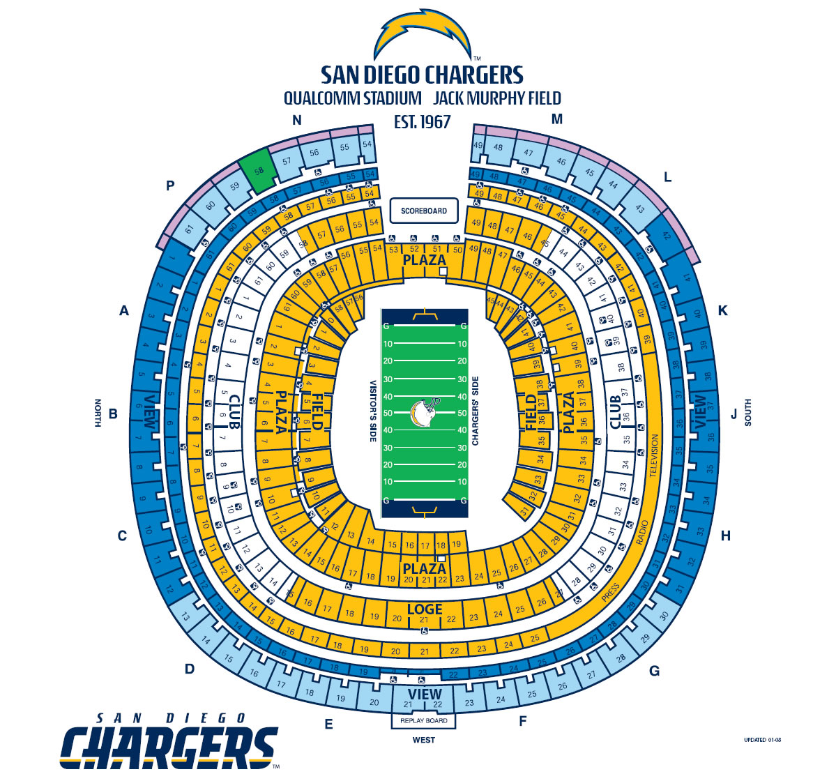 San Diego Chargers Club Seats: America's Finest Sports Forum
